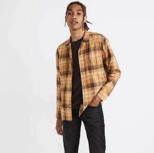 Best Men's Plaid Shirts: Madewell Brushed Cotton Easy Camp Shirt