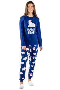 mama bear polar bear pajamas, matching Christmas pajamas