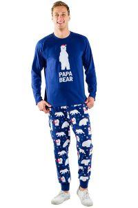 polar bear papa bear pajamas, matching christmas pajamas