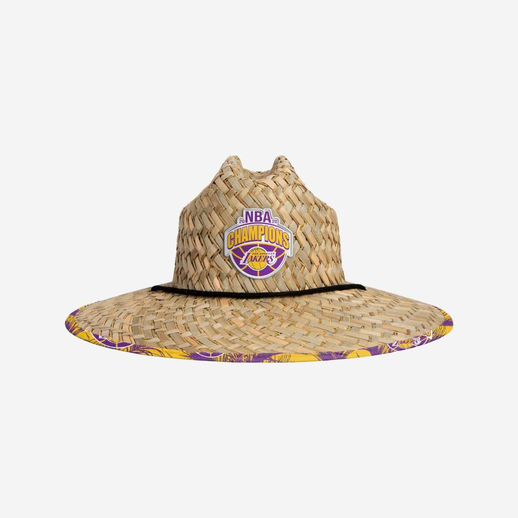 Los Angeles Lakers 2020 NBA Champions Floral Straw Hat