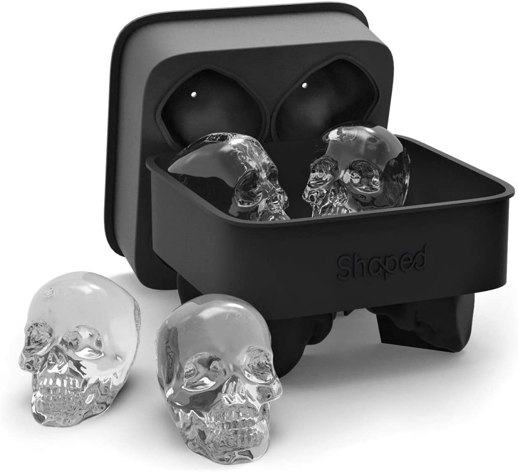 best gifts under $50 - Shaped 3D Skull Flexible Silicone Ice Cube Mold Tray