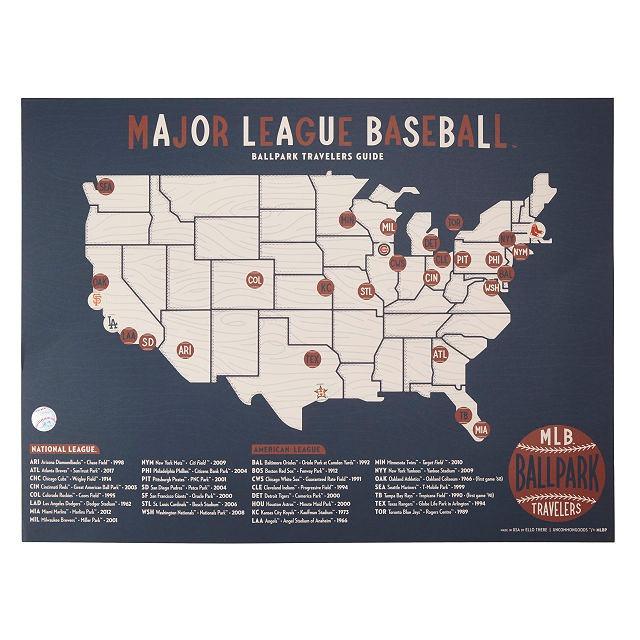 MLB Ballpark Traveler's Map