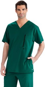 BARCO ONE 5-Pocket Reinforced V-neck scrub top, best men's scrubs