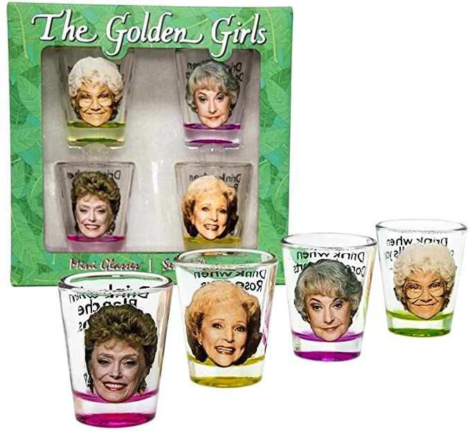 golden girls character shot glasses