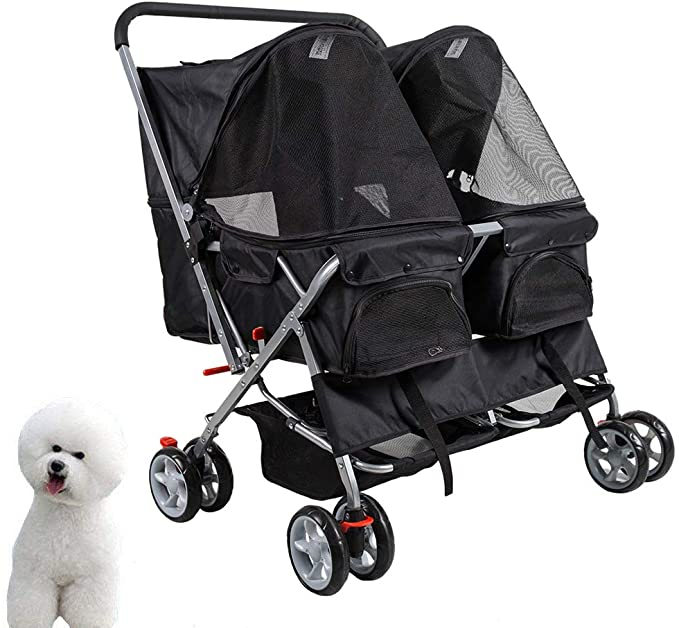 pet stroller for two