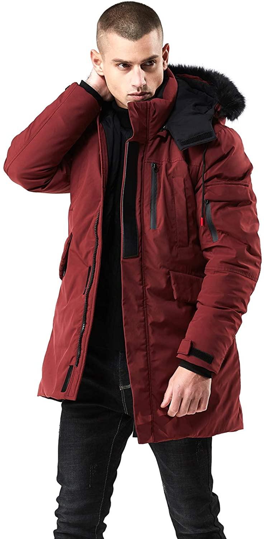 WEEN CHARM Men's Warm Parka Jacket