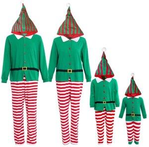 elf onesie Christmas pajamas, matching Christmas pajamas