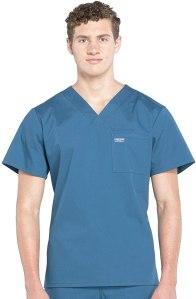 CHEROKEE Workwear Professional Men's V-Neck Top, best men's scrubs