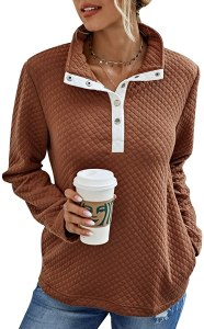 BTFBM women's quilted quarter zip sweatshirt, best women's sweatshirt