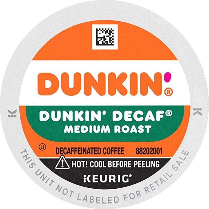 dunkin decaf coffee k-cup