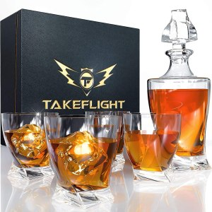 TF Takeflight Twist Whiskey Decanter Set