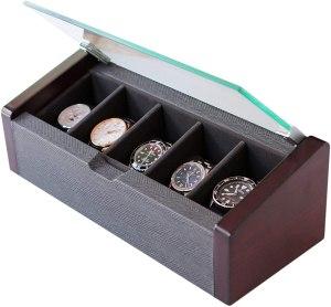wooden premium watch box, best watch case, best watch cases