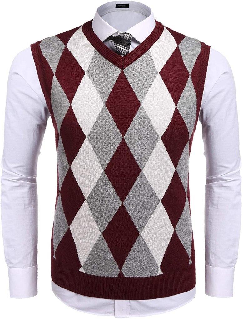 COOFANDY Men's Casual Slim Fit V-Neck Vest