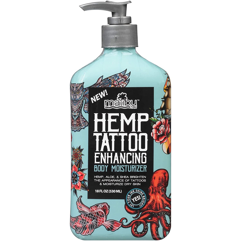 Malibu Tan Hemp Tattoo Enhancing Body Moisturizer, best tattoo lotion