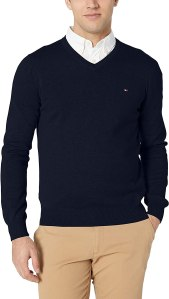 Tommy Hilfiger cotton v-neck sweater, Amazon prime day deals