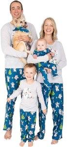 Christmas polar bear pajamas, matching Christmas pajamas