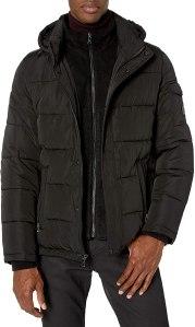 Calvin Klein men's hooded puffer jacket, puffer jacket