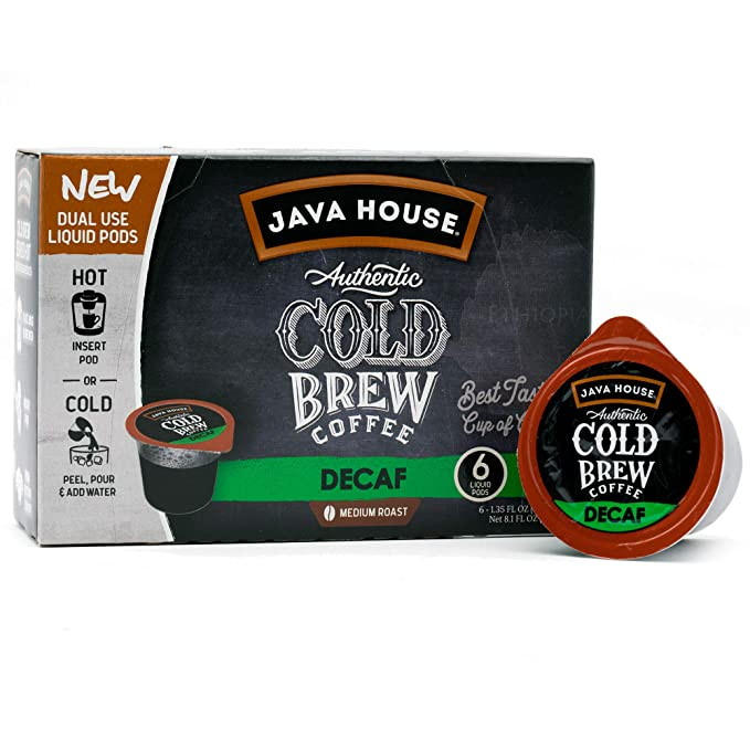 Java House Cold Brew Decaf Coffee Concentrate Pods