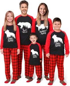 plaid christmas pajamas, matching Christmas pajamas