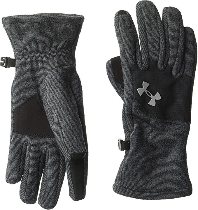 graphite fleece gloves with black palm