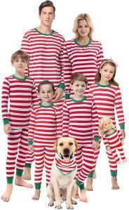 striped Christmas pajamas, matching Christmas pajamas