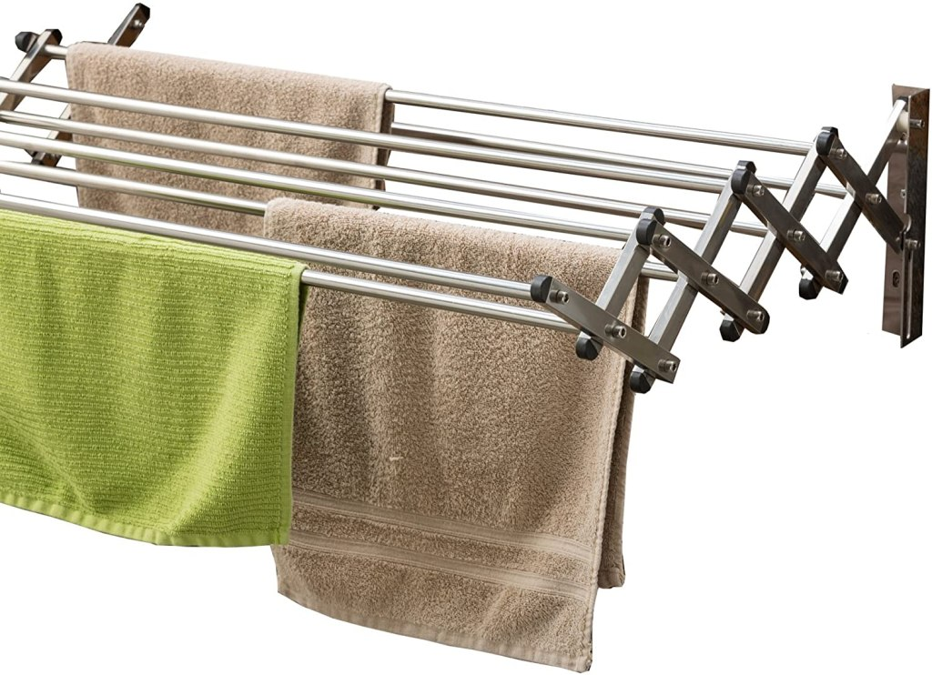 AERO Racks Stainless Steel Wall Mounted Collapsible Laundry Clothes Drying Rack