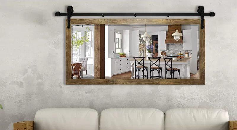 Abraham Barnwood Beveled Wall Mirror by Laurel Foundry Modern Farmhouse