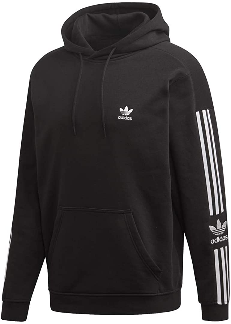 adidas black lock up hoodie