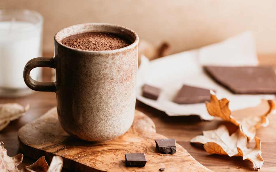 Close-up of hot chocolate in a