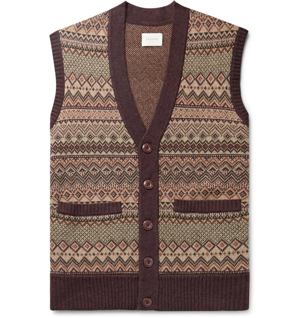 Fair Isle Wool-Blend Jacquard Sweater Vest by Aimé Leon Dore