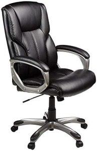 AmazonBasics high-back leather desk chair, best desk chair