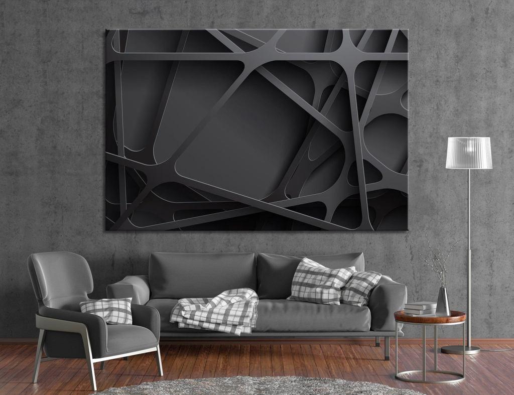 ArtTeamCanvas 3D Black Abstract Wall Decor