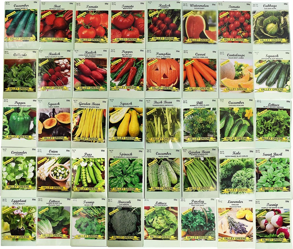Assorted Vegetable & Herb Seeds from Black Duck Brand