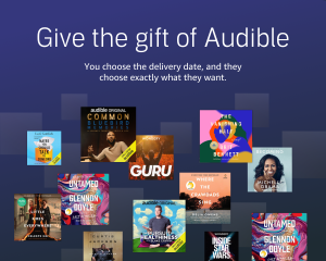 audible subscription, cheap Christmas gifts, budget Christmas presents