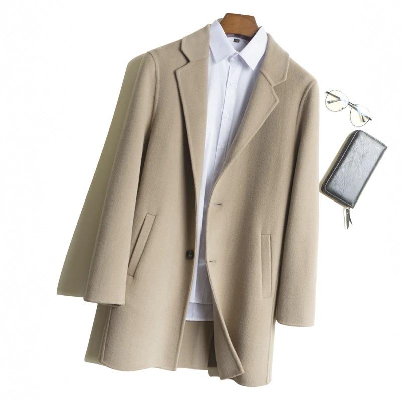 bellemere ny beige merino wool coat