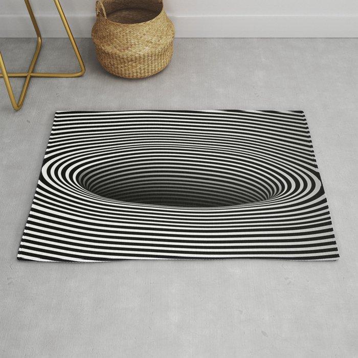 Black Hole Vertigo Rug by AlphaVariable