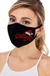 christmas masks - blingplaza believe face mask