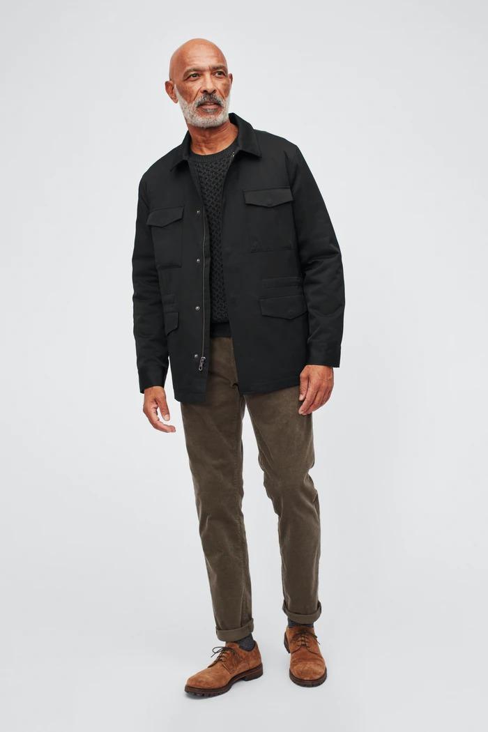 bonobos black nylon field jacket