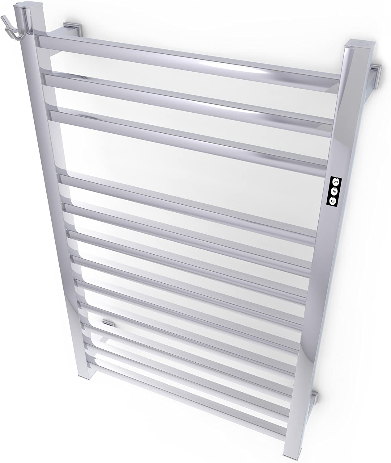Brandon Basics silver wall mounted towel warmer with timers