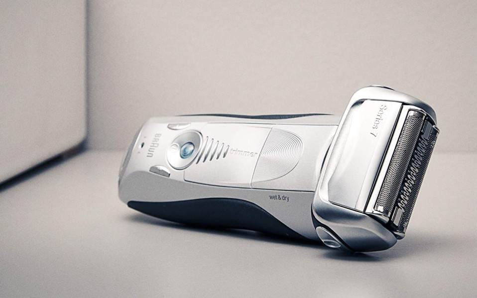 Braun Series 7 electric razor rests