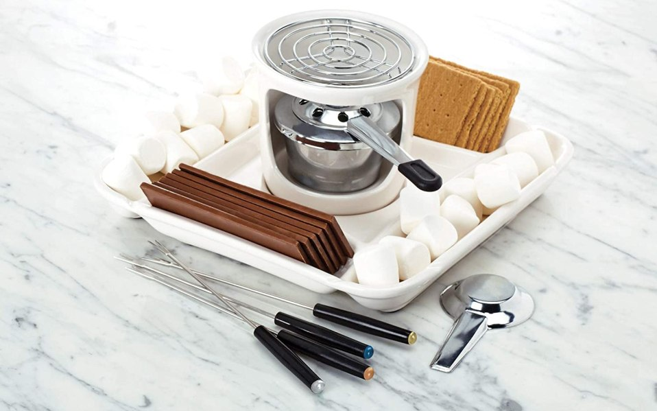 Chicago Metallic smores maker with ingredients