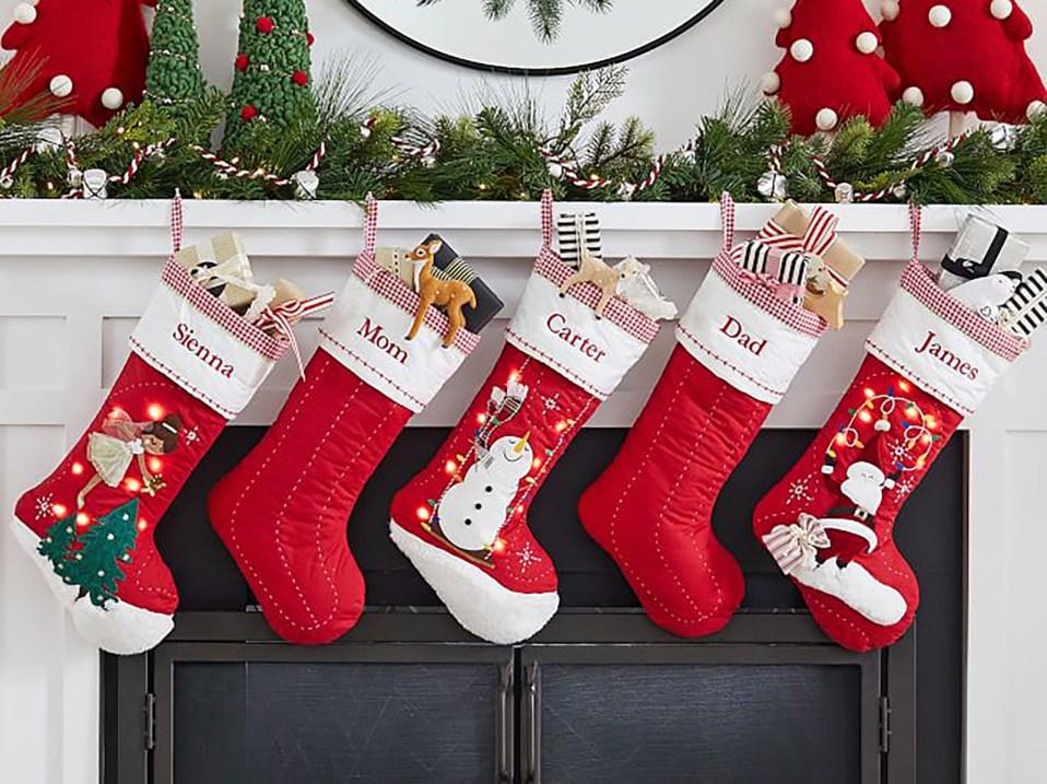 Velvet Christmas Stockings Personalized Christmas Stockings Quilted Stockings Gold Stockings. Red Stockings Classic Christmas Stockings