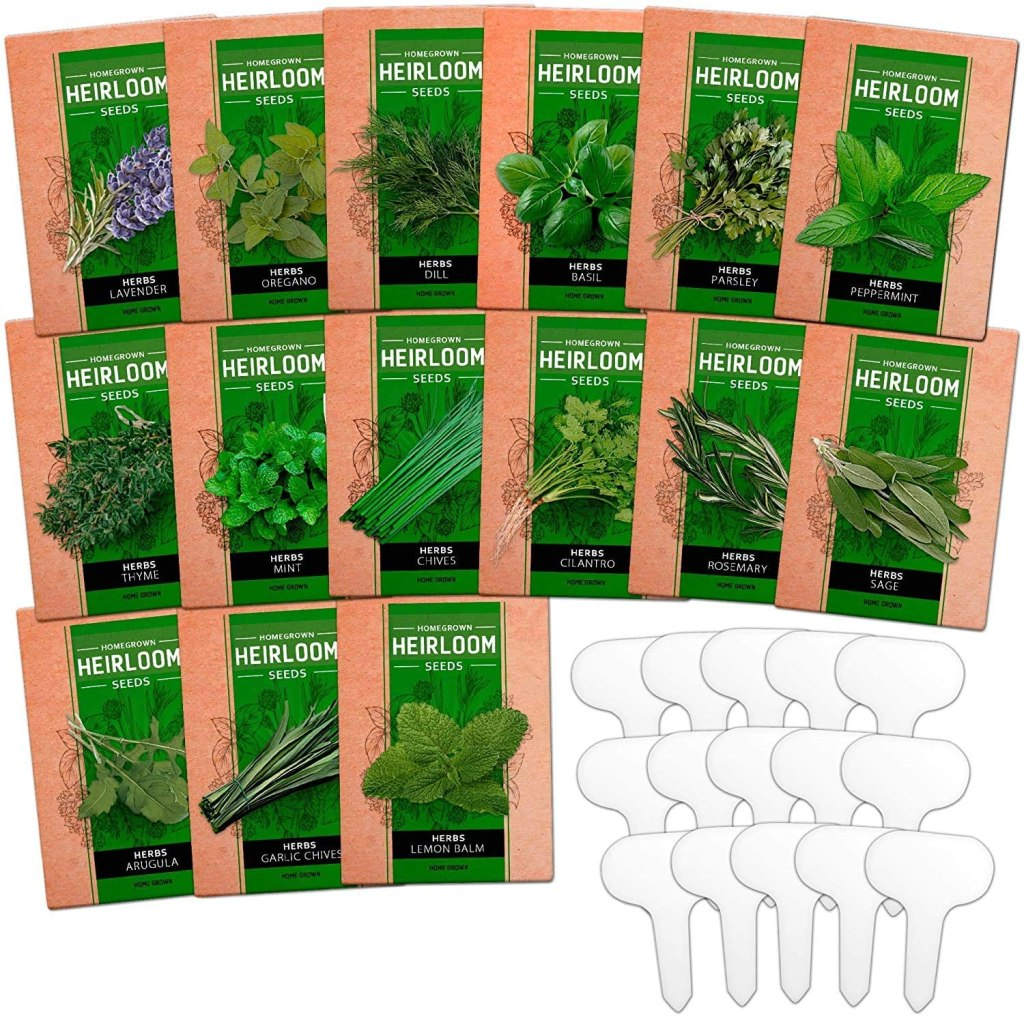 Culinary Herb Seed Vault from the Home Grown Store