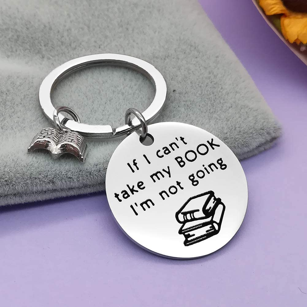 dabihu silver tone book themed key chain, best gifts for book lovers