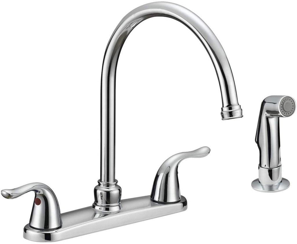 EZ-FLO Kitchen Faucet with Pull-Out Side Sprayer