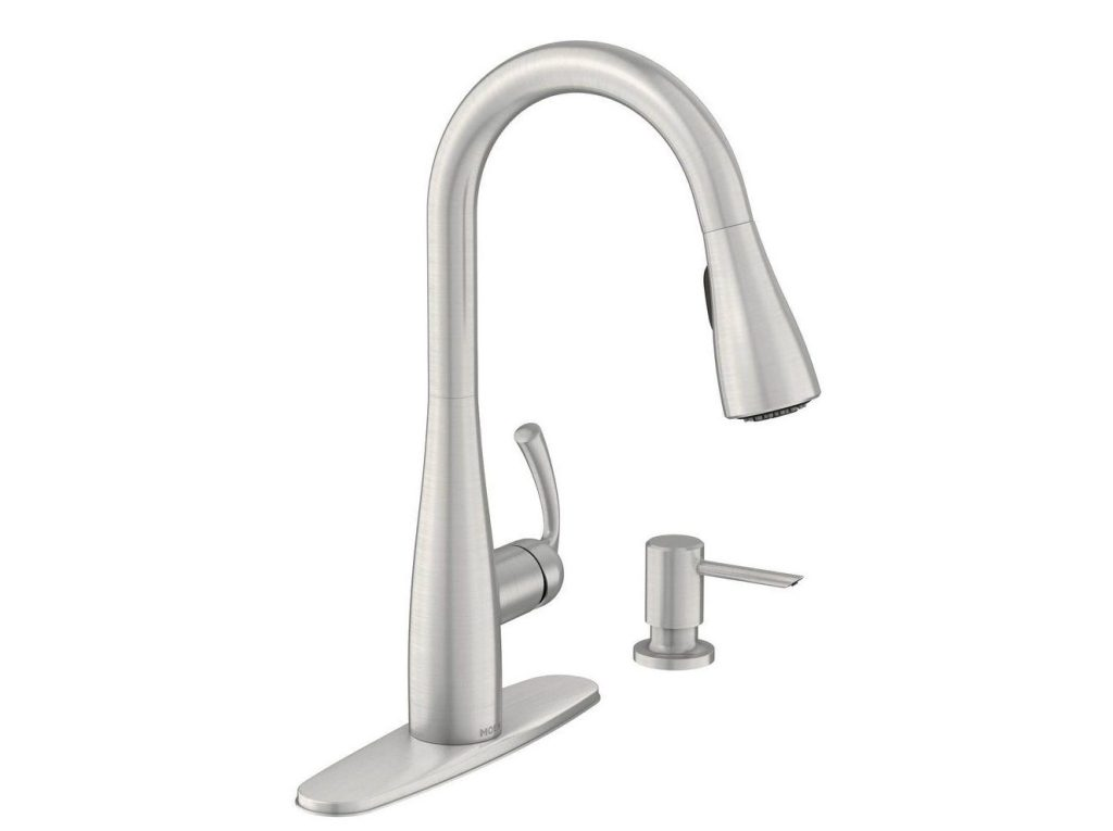 Essie Single-Handle Pull-Down Sprayer Kitchen Faucet by Moen