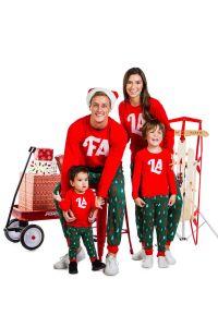 fa la la matching christmas pajamas, matching christmas pajamas