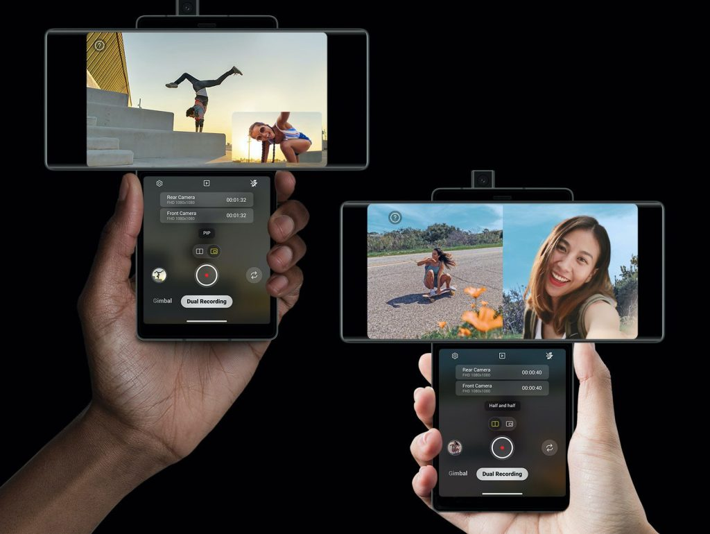 LG Wing Dual Screen Camera