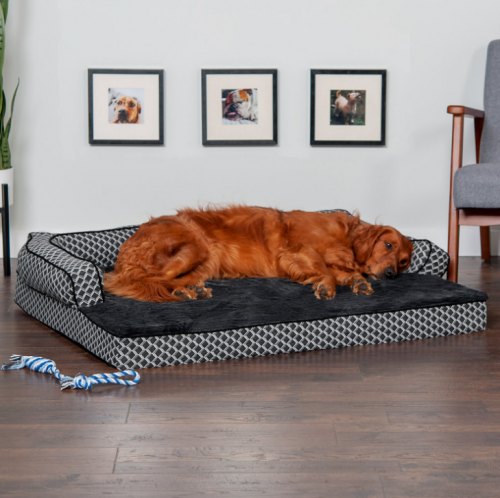 FurHaven Comfy Couch Dog Bed