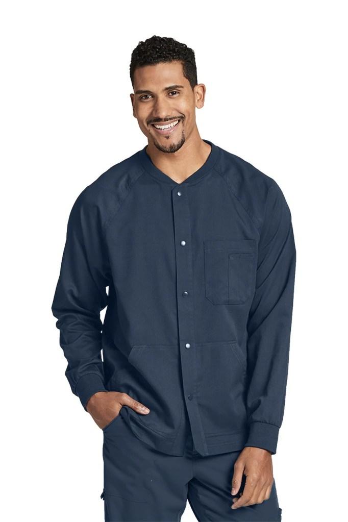 Men's 5-Pocket Raglan Warm Up Scrub Jacket by Grey's Anatomy